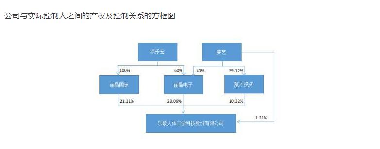 樂歌股份在2019年年報中披露的報告期末公司股權關系圖