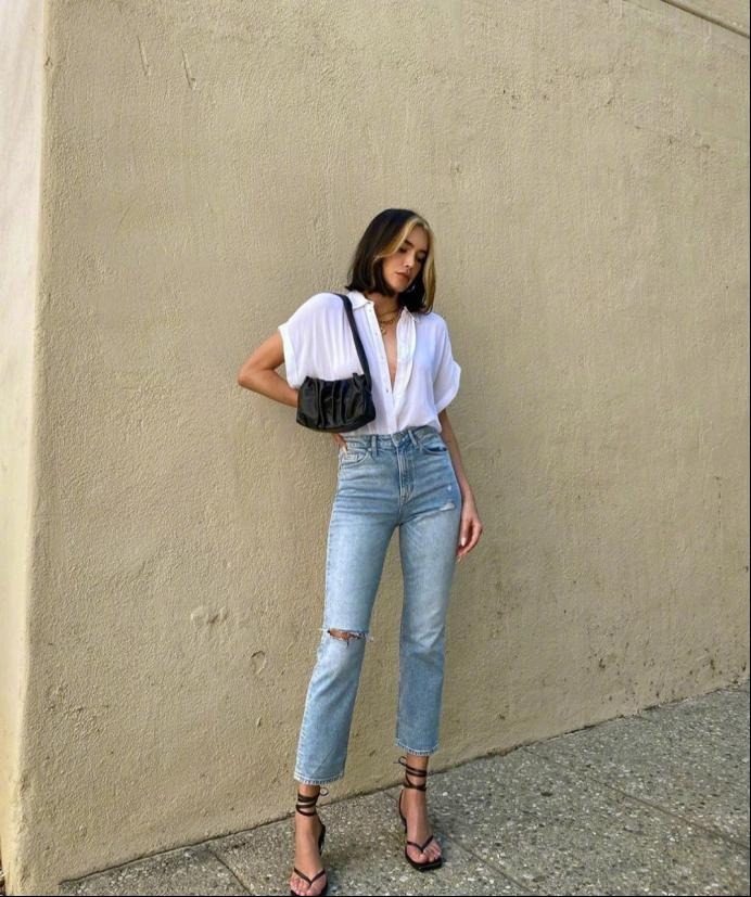"""牛仔单品太单一?看洛杉矶超模的高级穿搭,每一套都是""""炸街装"""""""