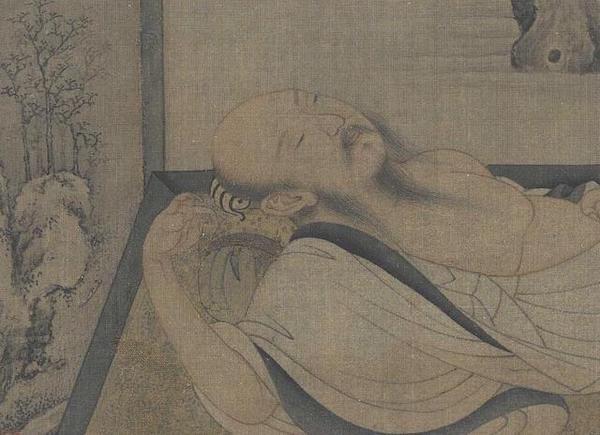 南宋 佚名 《槐荫消夏图》(局部) 故宫博物院藏