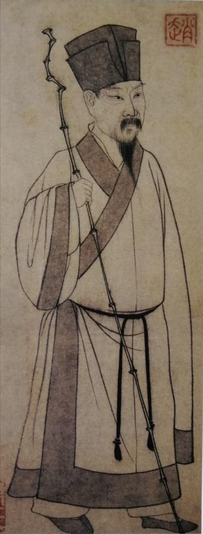 赵孟頫笔《东坡立像》
