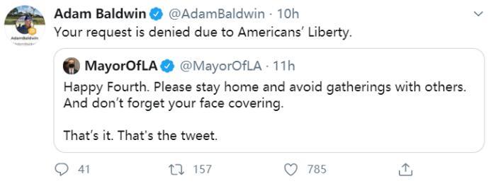 鲍德温推特截图