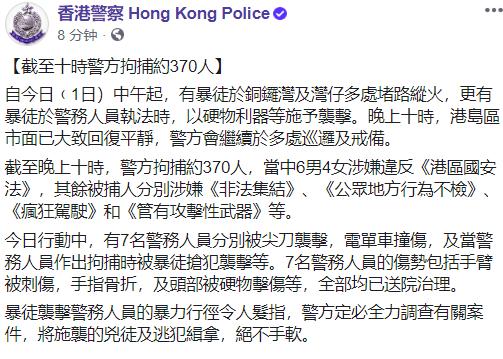 【江有健】_暴徒叫喊独立、刀刺车撞港警,警方拘捕超300人 港府严正声明