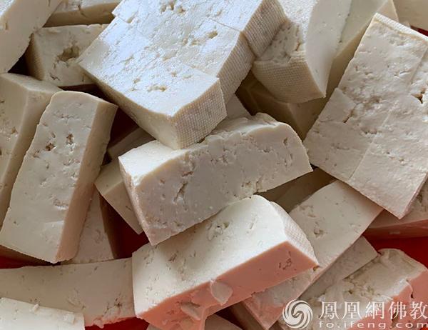 豆腐(图片来源:凤凰网佛教 摄影:李婷)