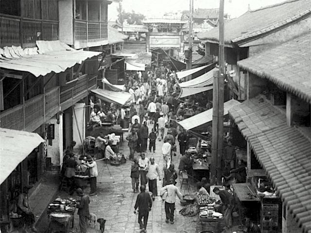 中国旧影1920年代,日本人镜头下的城镇生活