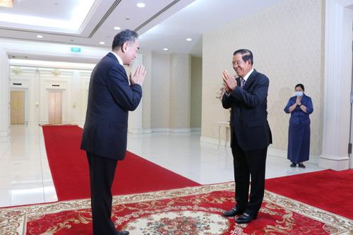 【迪士尼彩乐进入12dsncom】_柬埔寨首相洪森会见王毅:反对强权政治和霸凌行径