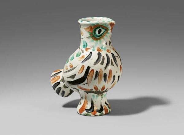 毕加索,木制的猫头鹰,1969