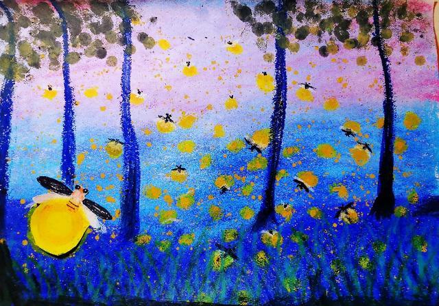 富力桃园幼儿园_童画里的大自然—红黄蓝千余家园所发起保护生物多样性公益 ...
