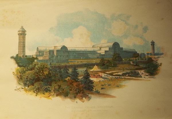 1854年版画《辛顿汉姆水晶宫》