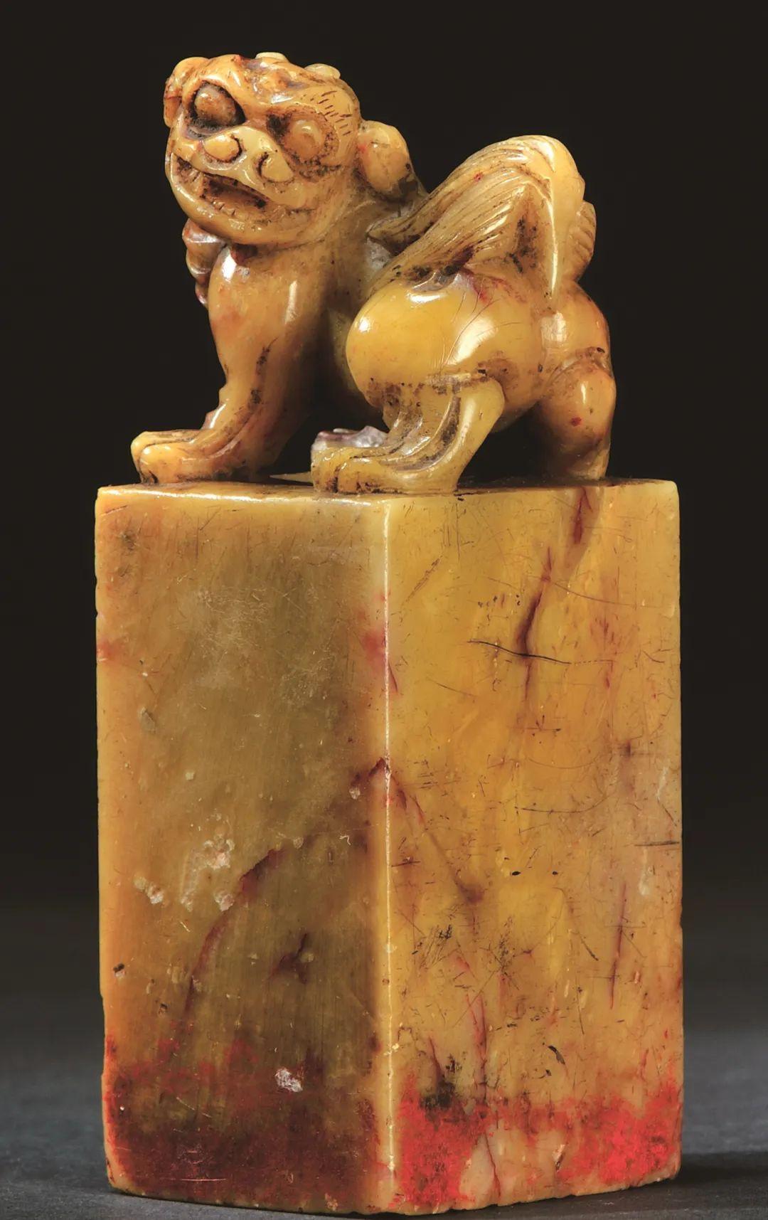 清 芙蓉石古兽方章