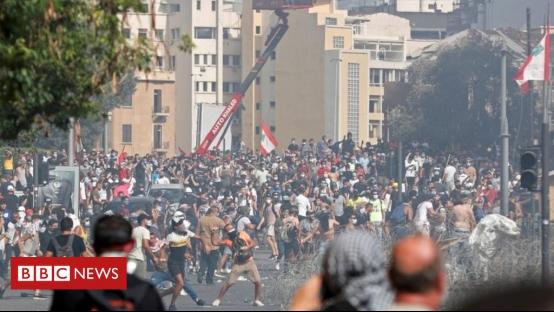 示威现场照片 图源:BBC
