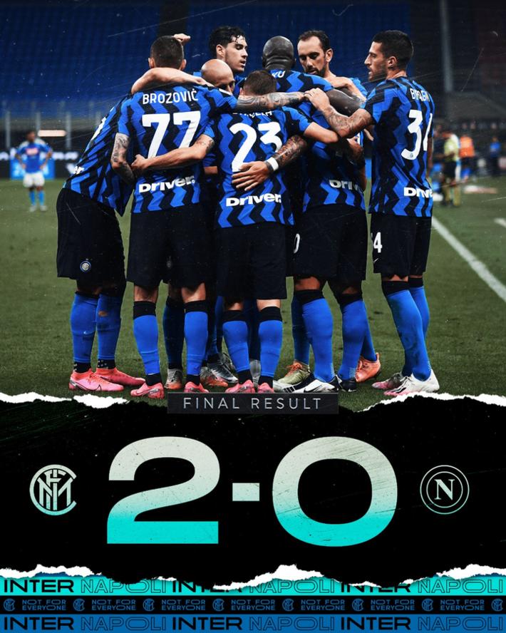 国米2-0那不勒斯,丹布罗西奥、劳塔罗建功