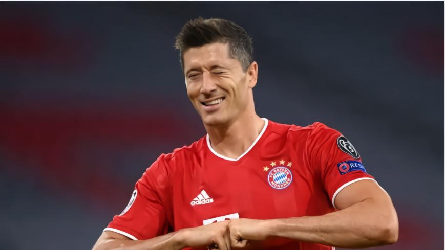 欧冠-拜仁7-1双杀8亿豪门!莱万2传2射,晋级8强会师巴萨