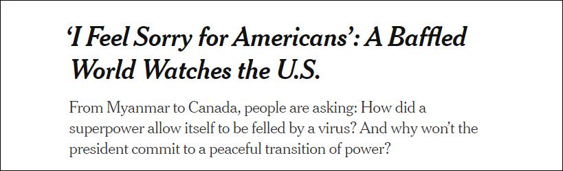 【快猫网址人才】_美媒:全世界都在看着,美国行事像个第三世界国家