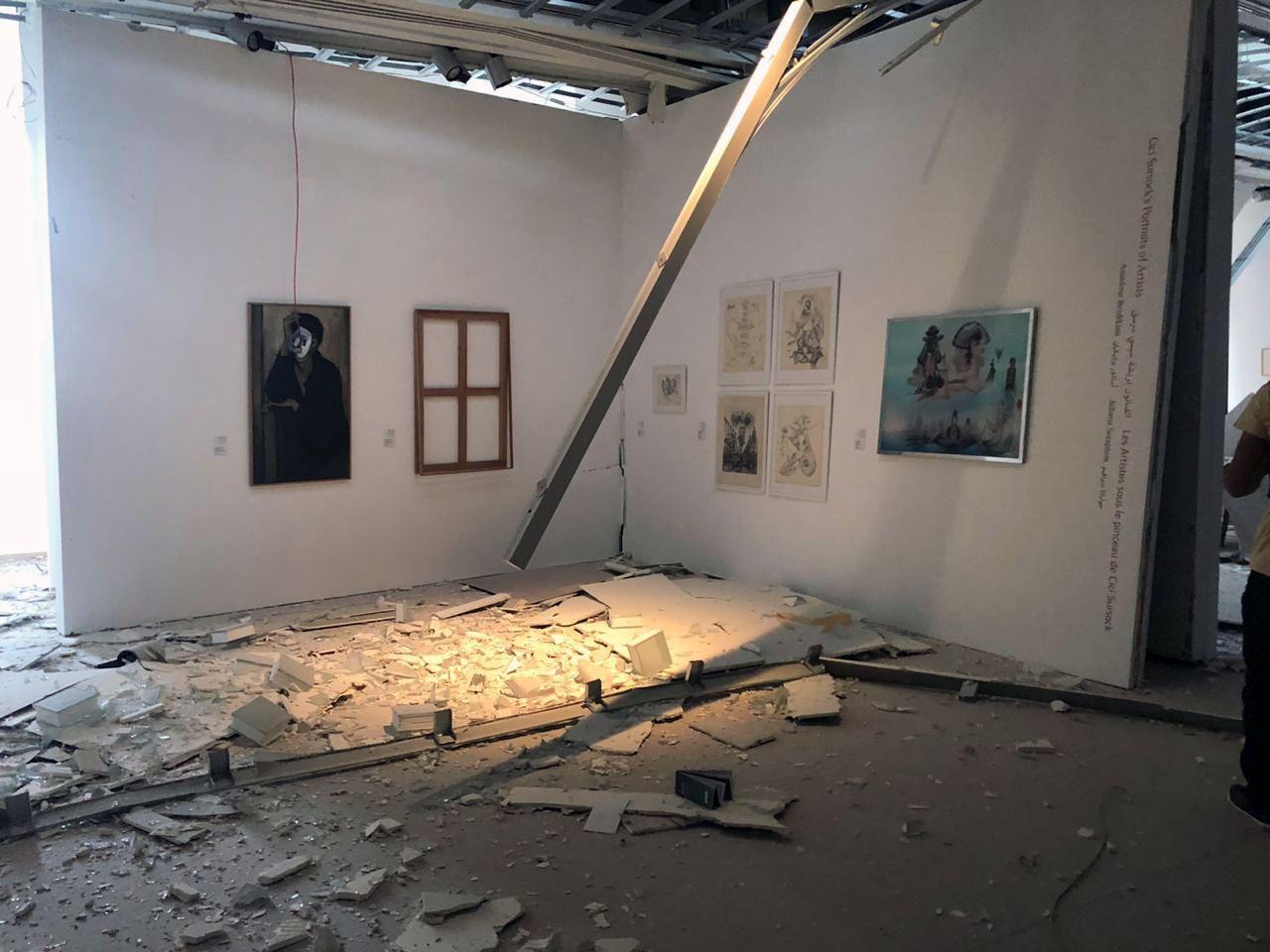 在贝鲁特爆炸中遭受重创的苏尔索克博物馆内部