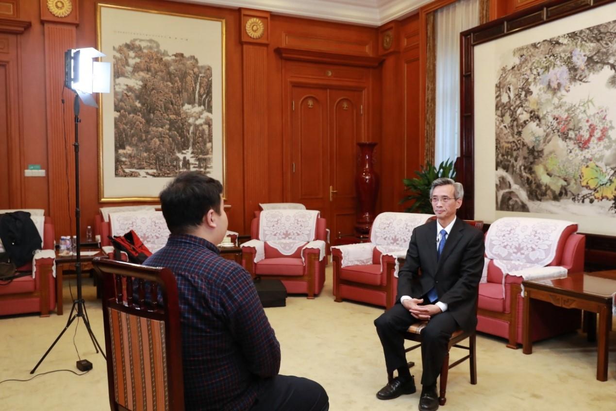 林松添接受澎湃新闻专访。 澎湃新闻记者 史含伟 图