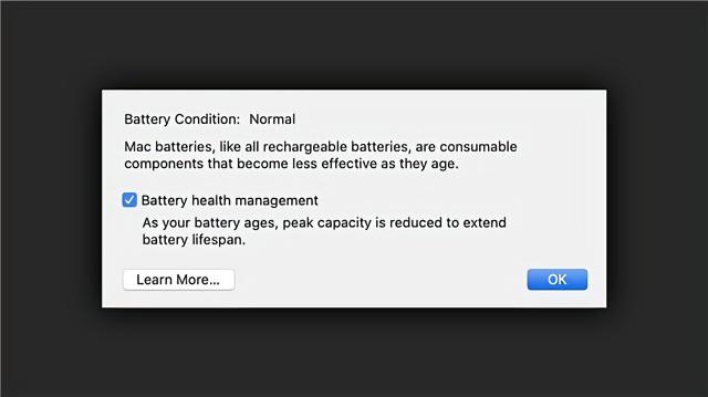 苹果发布的macOS 10.15.5中最大的变化是新电池运行状况管理功能