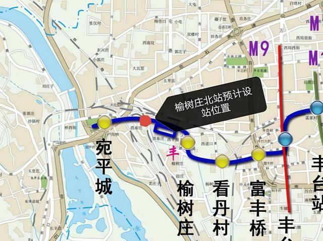 北京地铁16号线将增设榆树庄北站 北京地铁16号线榆树庄北站