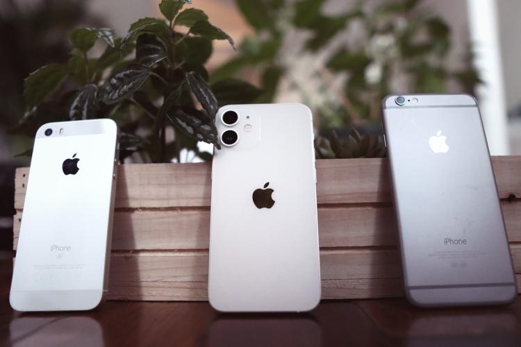 iPhone 12 mini 大小与厚度都介于 iPhone 6 与一代 iPhone SE 之间