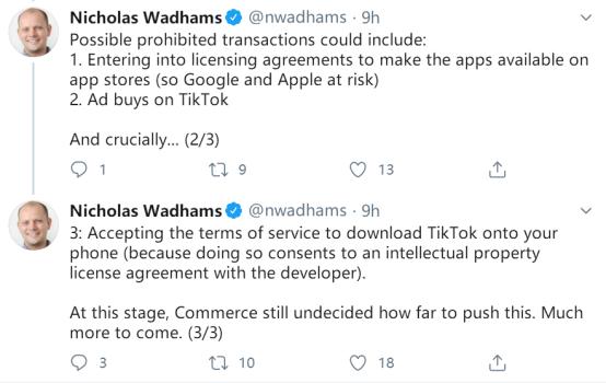 美记者:谷歌和苹果App商店里TikTok和微信可能被下架(图2)