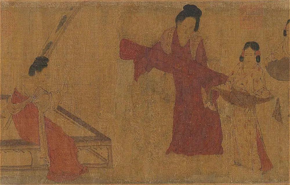 (传)唐 周昉 《调婴图》卷(局部)