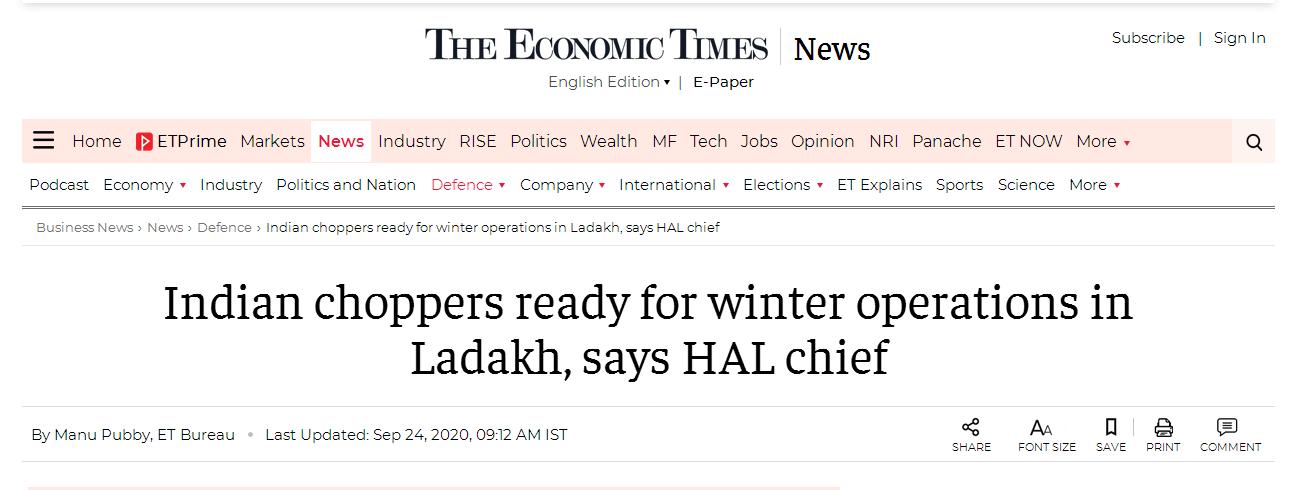 【黑客精品】_冬季临近,印媒吹嘘直升机已为中印边境前线部队做好准备