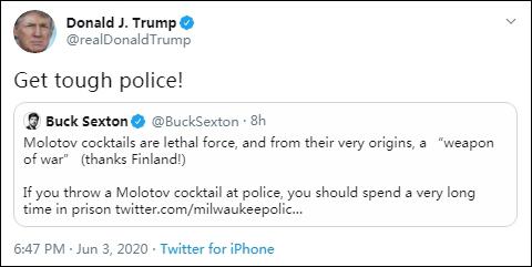 【世界网站排名】_特朗普喊话警察:给我强硬起来!