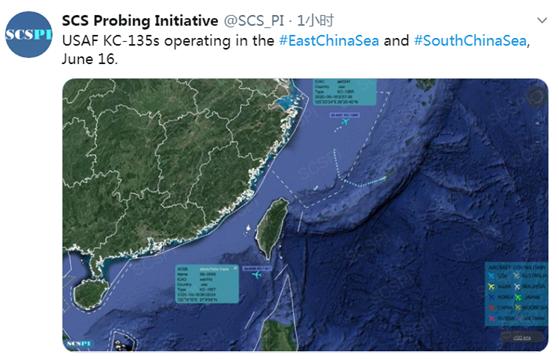 解放軍戰機、美軍機同日出現在臺灣空域