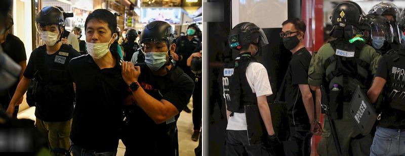许智峰(左)、周伟雄(右) 图自港媒
