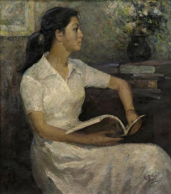 邱瑞敏 《教师肖像》 布上油画 1983