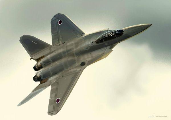 资料图片:日本此前发布的下一代战机构想图