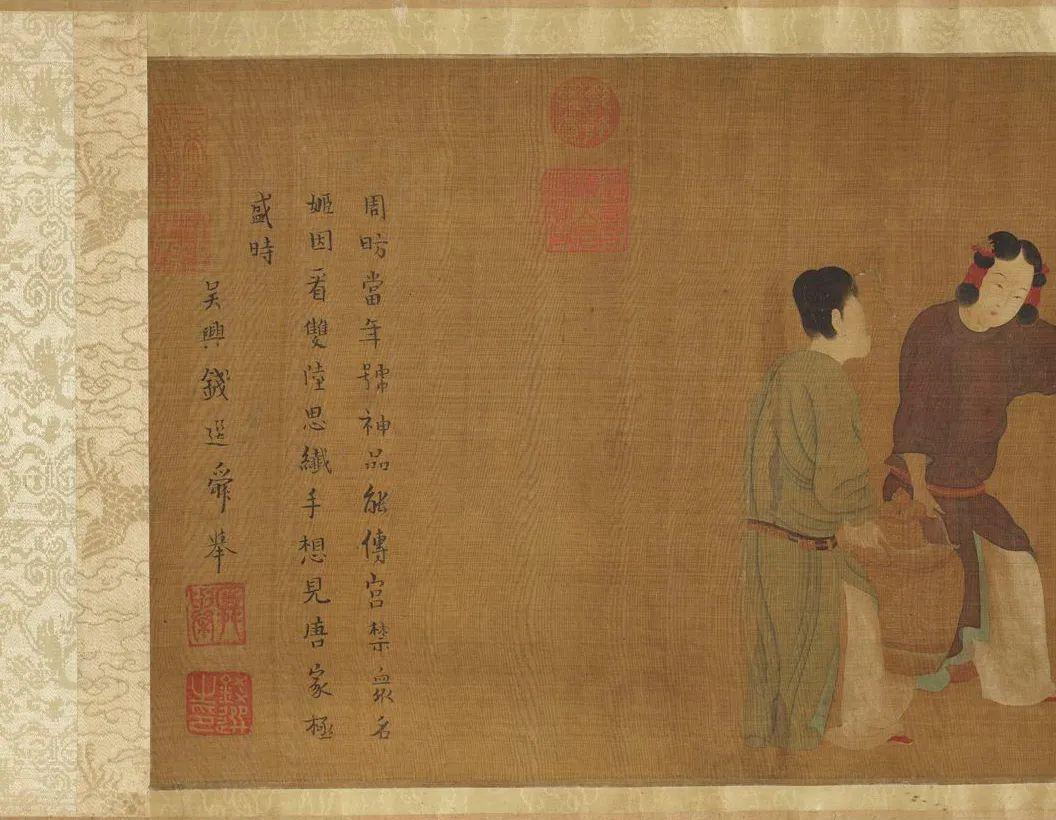 (传)唐 周昉 《内人双陆图》卷(局部)