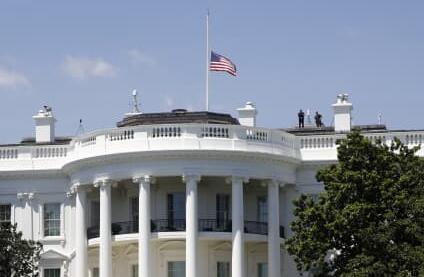 特朗普推文 白宫下半旗志哀