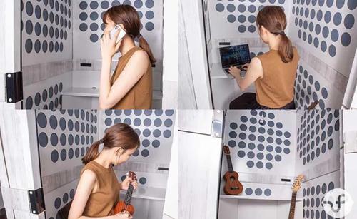 很像是厕所!日本一家公司发明小型隔音房