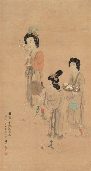 张大千的仕女美人,徐悲鸿称五百年才出一个