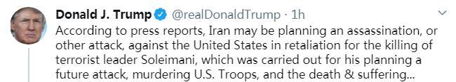 【万博易】_美媒称伊朗正考虑暗杀美国大使 特朗普表态了