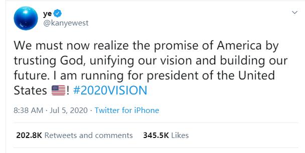 【微博营销方法】_侃爷宣布竞选美国总统 网友:如果让卡戴珊当第一夫人,我会离开美国
