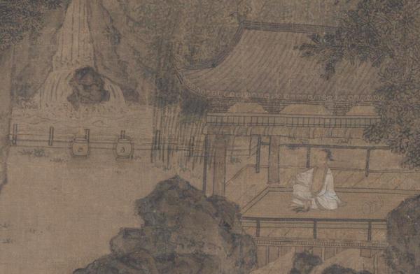 宋 《纳凉观瀑图》页 (局部) 故宫博物院藏