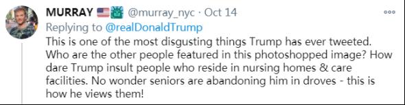 特朗普在推特上发了张针对拜登的图 立马招骂