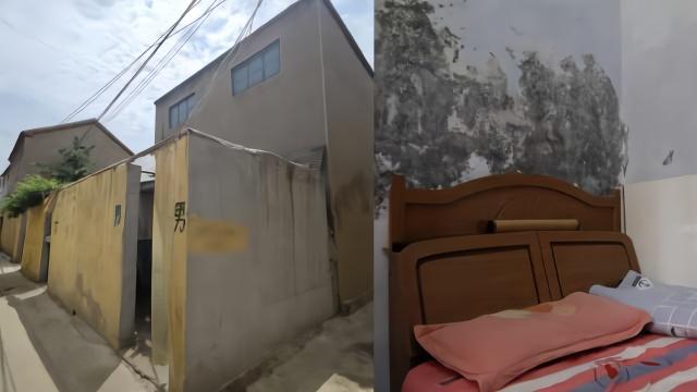 屋后被建成公厕相隔20厘米,居民:墙壁发霉开裂,满屋异味