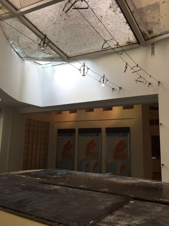 黎巴嫩史前博物馆的玻璃天花板可能倒塌。