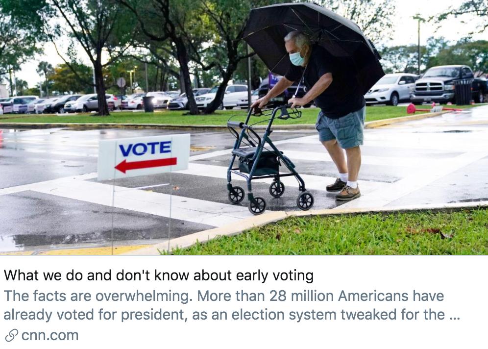 """【迪士尼国际app】_3167万选民已为美国大选提前投票,两党""""战况""""如何?"""