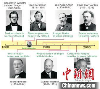 七条经典生态地理法则的最早研究者,这些法则后来就以他们的姓氏被命名。 田力 摄