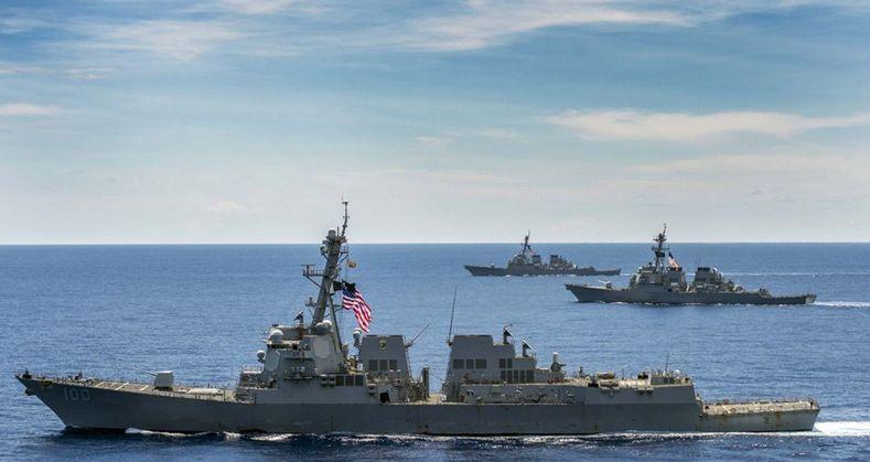 """中国055舰挑战之下,美国海军抛出""""355艘舰海军""""概念"""