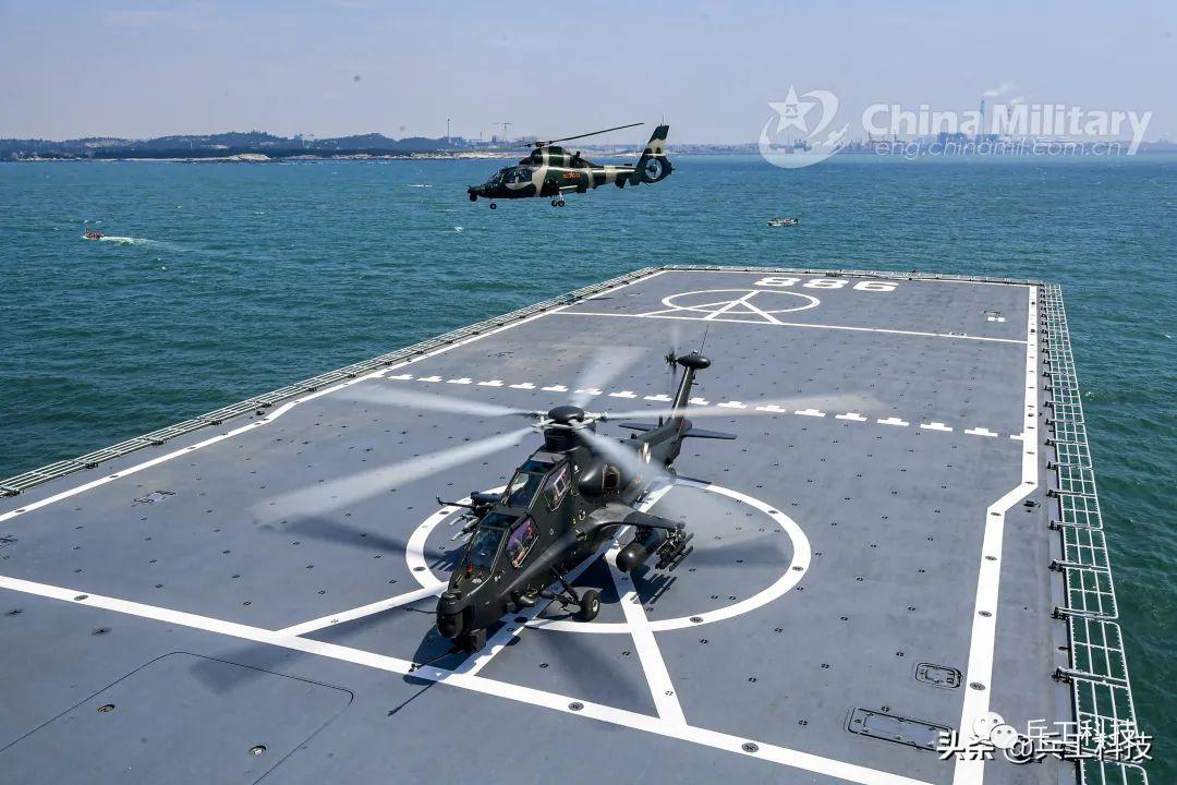 直-10在海军船坞登陆舰上起降