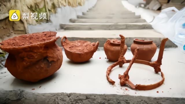 """#北宋古墓发现过仙桥#,出土物中挖出""""火锅"""""""