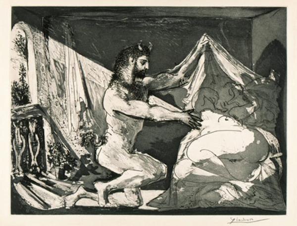 毕加索,Faun revealing a sleeping woman,1936