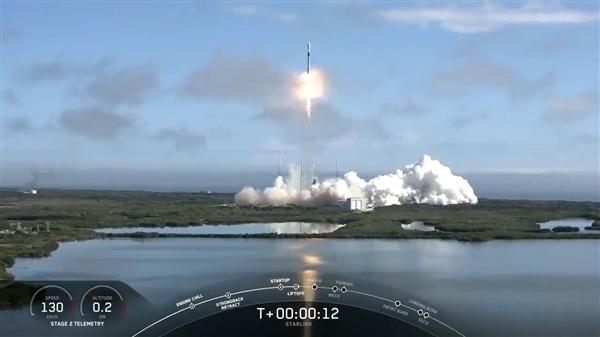 SpaceX第五批60颗卫星成功发射:四手火箭回收失败插图1