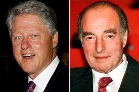 △克林顿(左)与马克·里奇(右)
