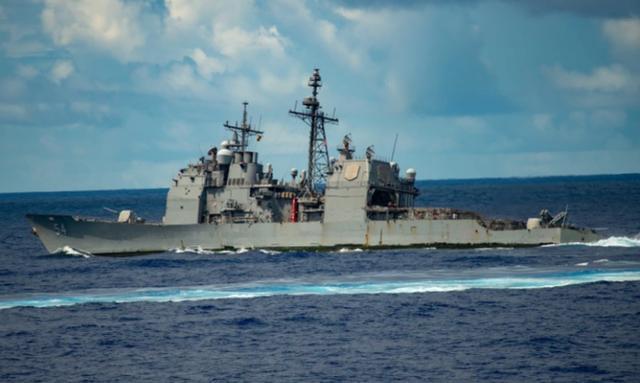 """""""安提坦""""号导弹巡洋舰在起火不到一周后继续参加联合演习"""