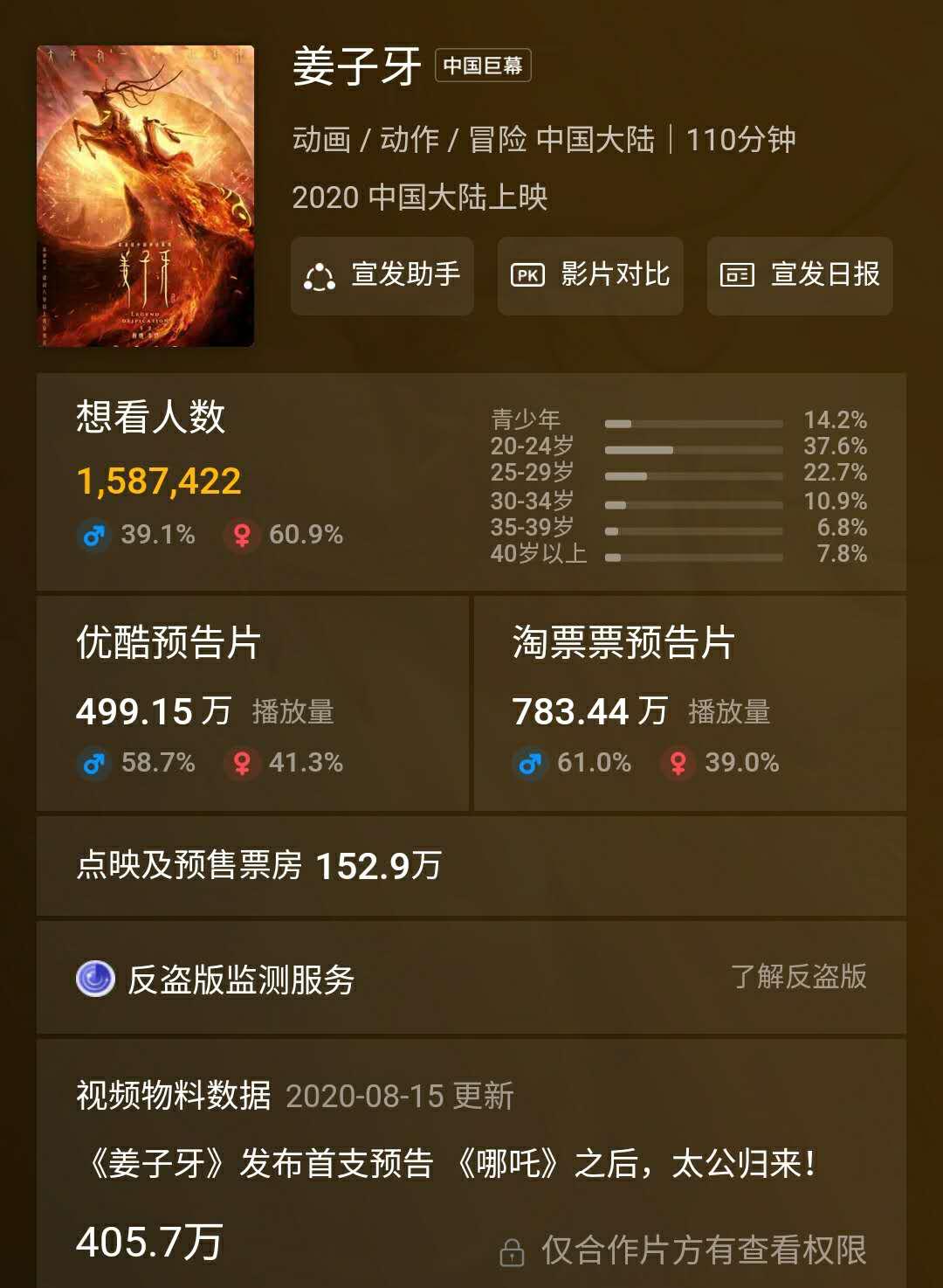 春节档推迟影片终于回来了!《姜子牙》定档,270万人想看插图(3)